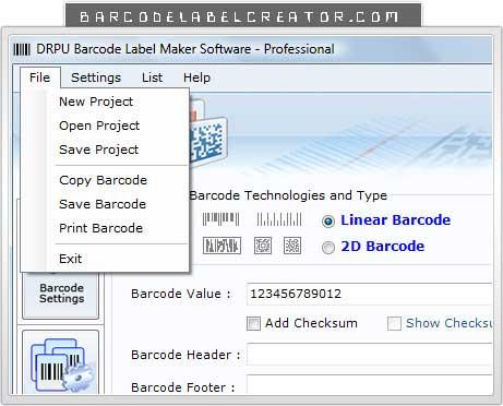 Windows 7 Databar Barcode Creator 7.3.0.1 full
