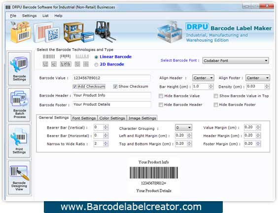 Manufacturing Barcode Label Creator 7.3.0.1 full