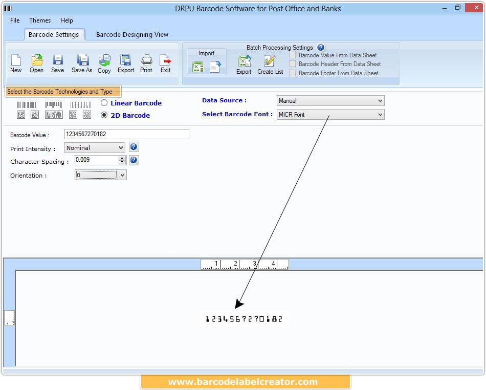 Barcode Label Creator Post Office and Bank screenshots