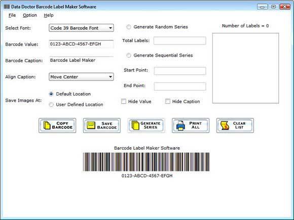 Windows 7 Create Barcode Label 5.0.1.5 full